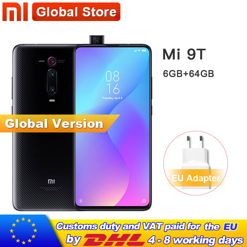 グローバルバージョン mi 9T (赤 mi K20) 6 ギガバイトの RAM 64 ギガバイトスマートフォンの Snapdragon 730 オクタコア 4000 2600mah ポップアップフロントカメラ 48MP NFC  グループ上の 携帯電話 & 電気通信 からの 携帯電話 の中 1