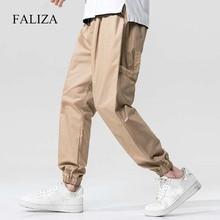 Joggers-Pants Trousers Ribbons Multi-Pockets Streetwear Hip-Hop Male Casual Mens FALIZA