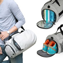 Waterdichte Sport Tassen Mannen Grote Sporttas Vrouwen Yoga Fitness Workout Bag Outdoor Reizen Bagage Hand Tas Met Schoenen Compartiment