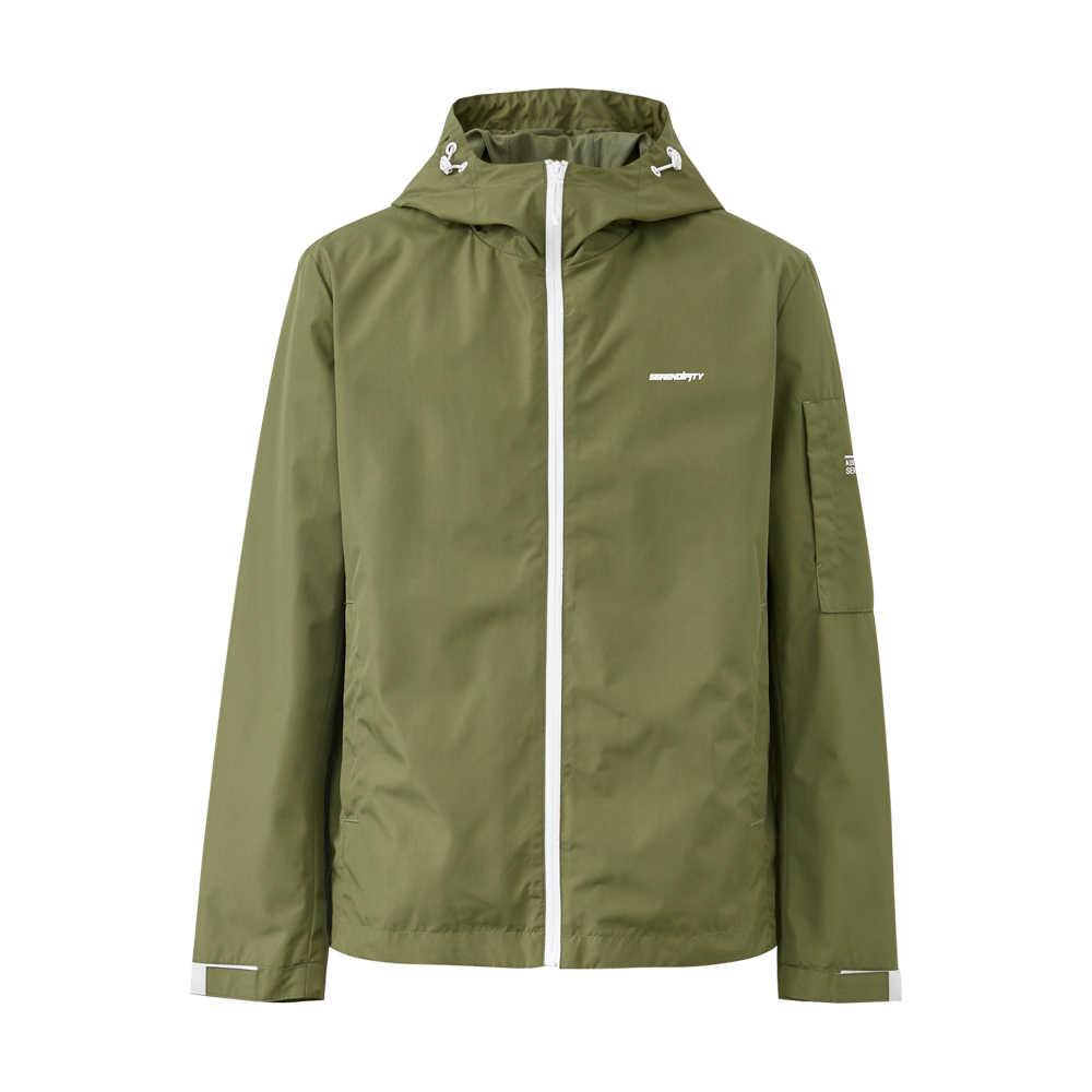 Metersbonwe 2020 bahar erkek günlük ceketler erkek moda kapşonlu ceket erkekler palto beyzbol ceketleri erkek Streetwear Tops