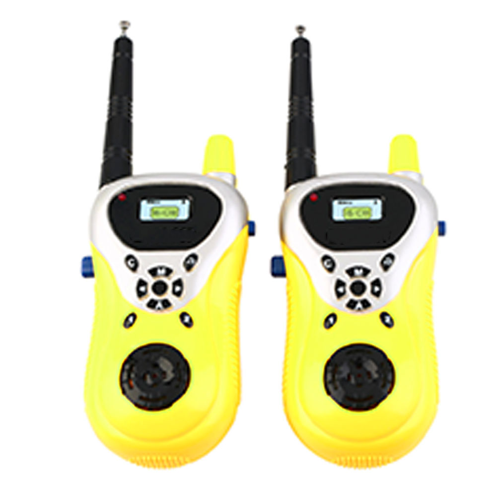 2pcs Portable Mini Electronic Handheld Two Way Communicator Gift Educational Interaction Game Parent Child Kids Walkie Talkies
