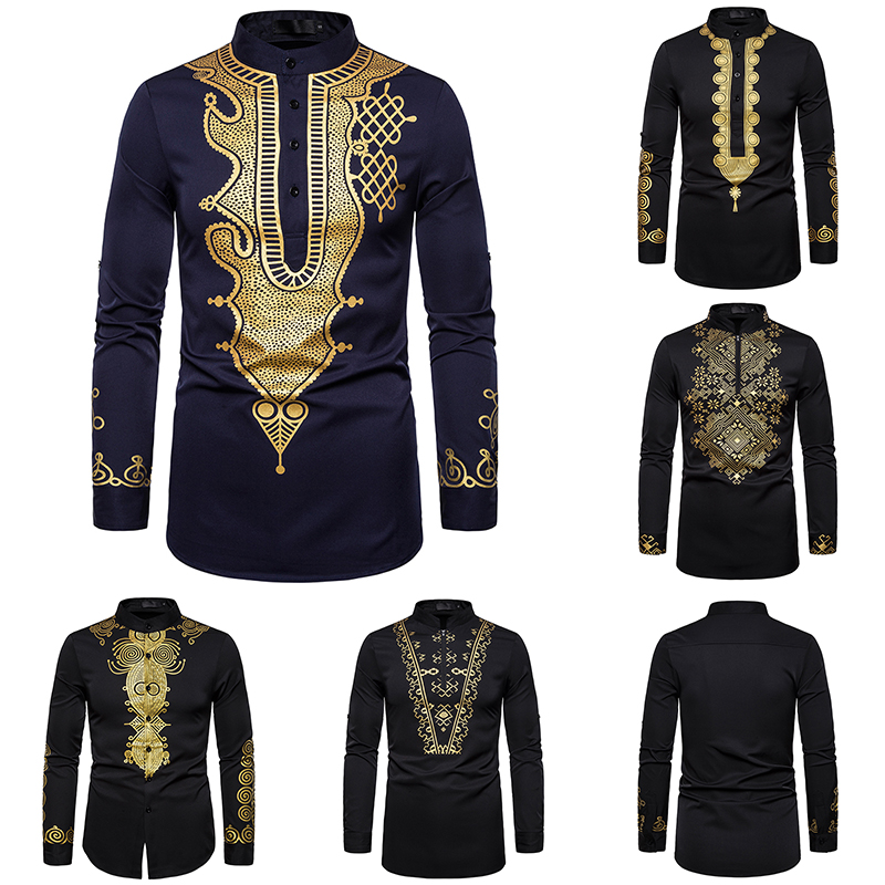 Dashiki Shirt Men Fashion Africa Clothing Pullovers African Dress Clothes Hip Hop Robe Africaine Casual World Apparel