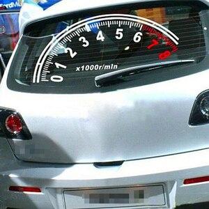 Image 3 - BEMOST Auto Riflettente Auto Lunotto Posteriore Decorazione Tachimetro Sport Cool Car Sticker Adesivi 60*30 centimetri di trasporto accessori Auto Styling