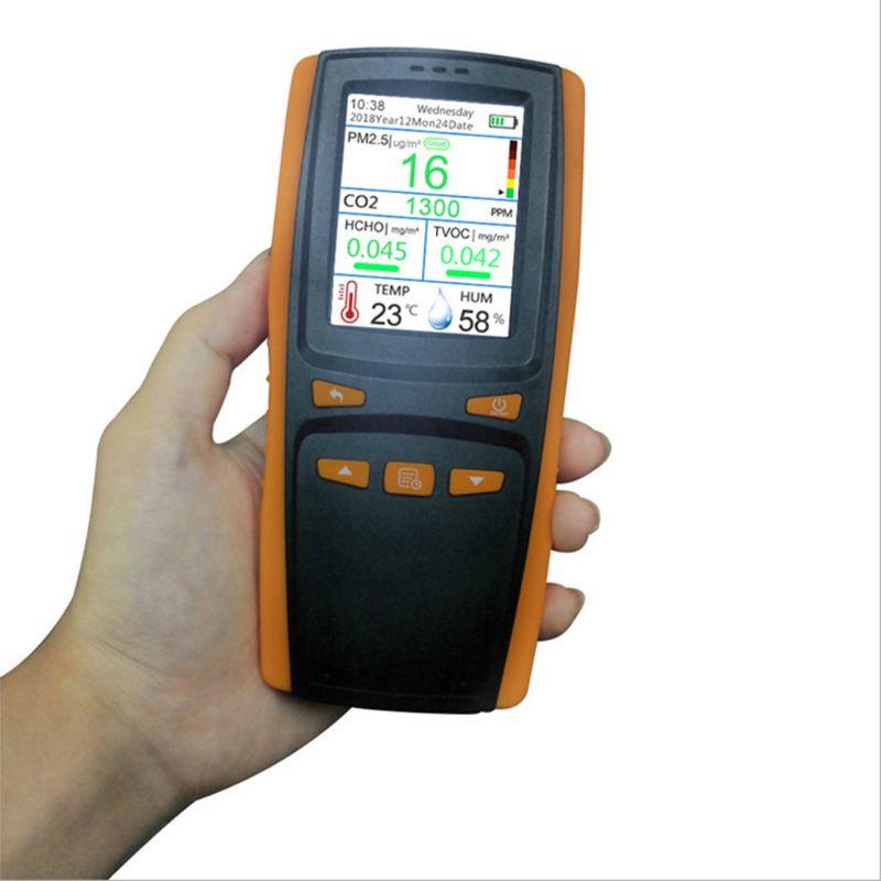 Монитор качества воздуха для частиц PM2.5 PM10 CO2 влажности температуры