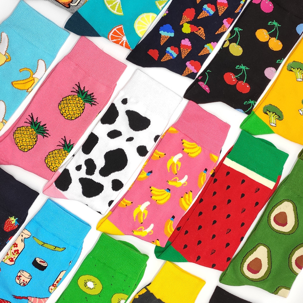 1 Pair Colorful Mens And Womens Hip Hop  Renaissance  Painting Cotton Socks Harajuku  Casual Dress Novelty Fun Socks  Size 39-45
