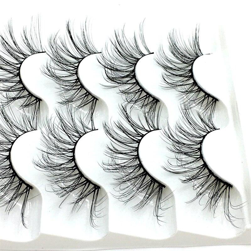 NEW 5 pairs Mink Eyelashes 3D False lashes Thick Crisscross Makeup Eyelash Extension Natural Volume Soft Fake Eye Lashes 6