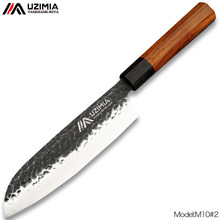 UZIMIA Handmade Forged 3Layers 8Cr Steel Santoku Knives Japanese Chef Knife Kitchen Knives Slicing Cleaver Cooking Tools M10#2