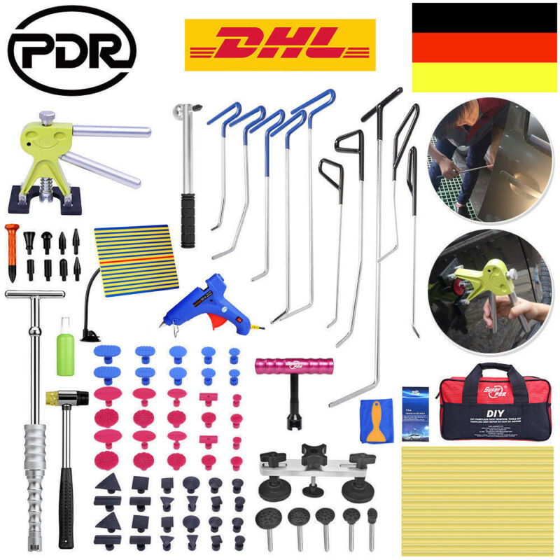 PDR Dent Lifter Slide Hammer Glue Gun Crowbars Car Body Dent Damage Repair Tools Auto Car Dent Repair Tool Hail Removal Set
