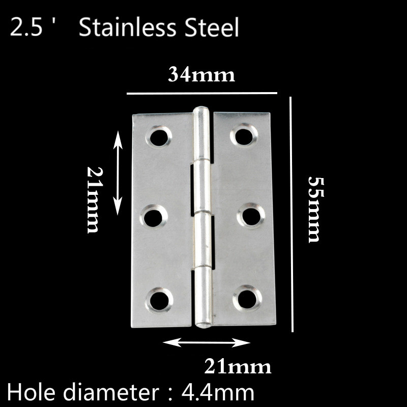 JD 100pcs Mini 1.5 Inch Flat High Grade Stainless Steel Small Hinges Boutique Door and Window Accessories Home Hinge