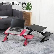 Regulowane biurko na laptopa stojak aluminium Laptop stół ergonomiczny przenośny wentylowane TV łóżko podstawka do laptopa z podkładka pod mysz podkładka pod mysz