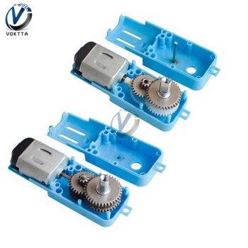 DC 3/6V 1: 90 Motor de engranaje de Metal completo/medio Metal Motor de engranaje de un solo eje sin escobillas DC Motor Robot reductor de velocidad de vehículo inteligente