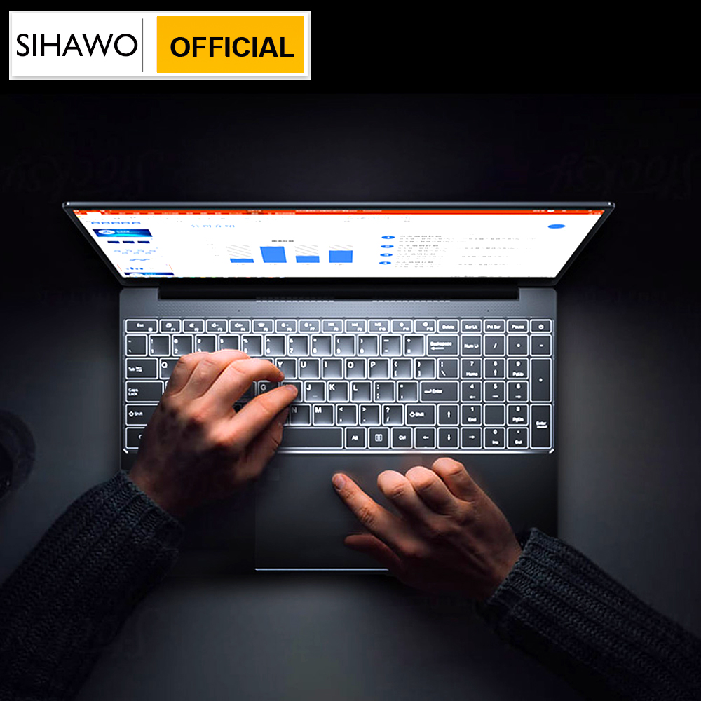 SIHAWO Elgegance A9U 15.6 Inch Intel Core I5 4200U Windows10 8GB RAM 256GB SSD Laptop With Backlit Keyboard Metal Cover Notebook