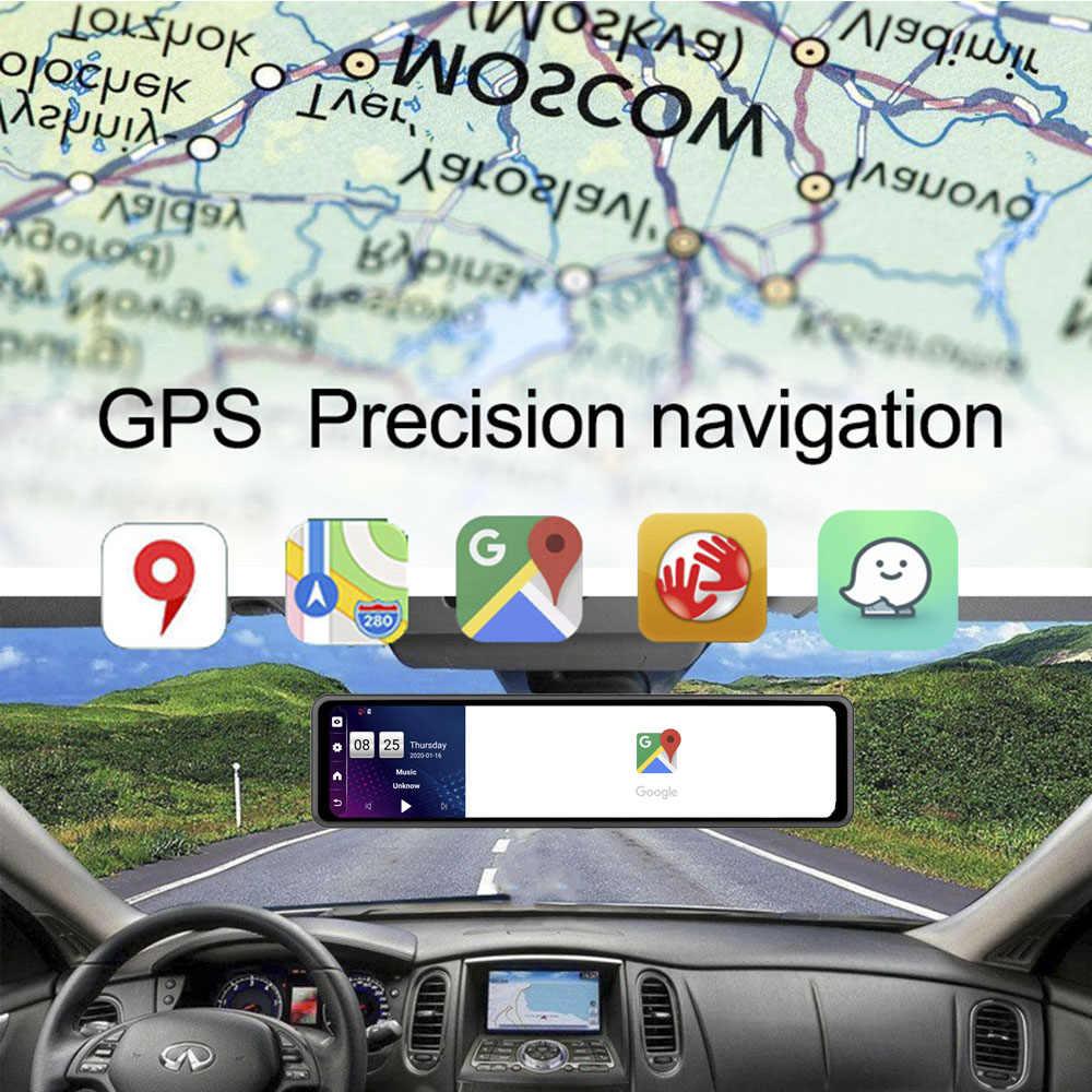 2020 HGDO 12 ''4G coche DVR Android 8,1 ADAS cámara para espejo retrovisor FHD 1080P WiFi GPS cámara de salpicadero Secretario grabadora de Video 2G + 32G