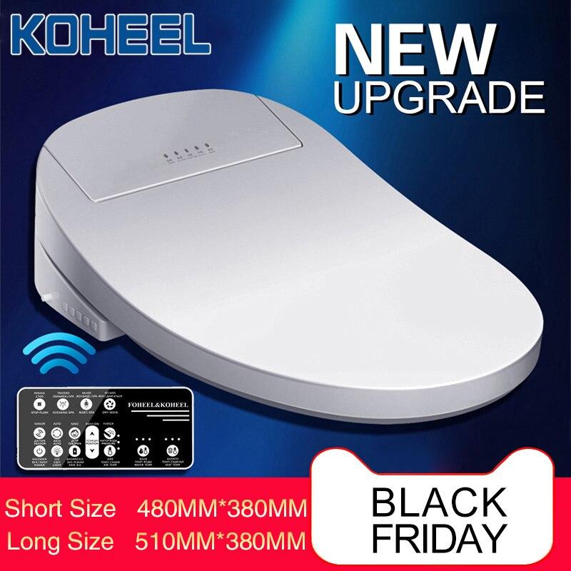 Kotalon Intelligent siège de toilette électrique Bidet couverture Smart Bidet chauffé siège de toilette lumière LED Wc smart siège de toilette couvercle
