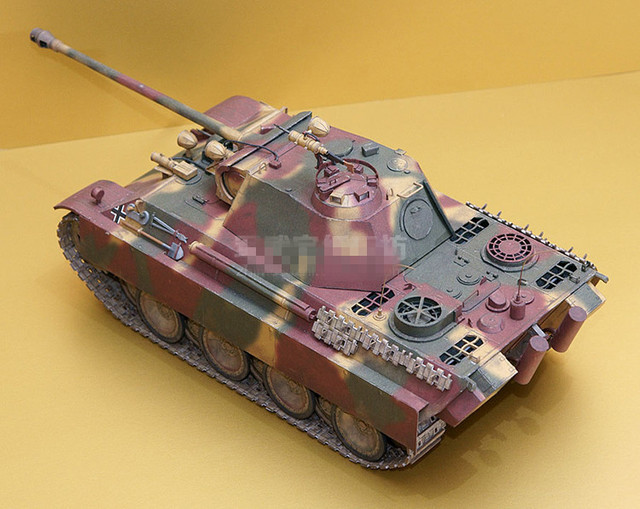 1:25 Scale WW2 Germany Panzerkampfwagen V Panther Sd.Kfz. 171 Tank Paper Model Handmade Toy Puzzles 2