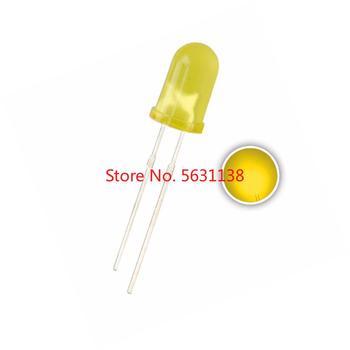100 sztuk 5mm żółty DIP dioda emitująca led rozproszone okrągłe głowy DIP-2 F5 chip diody 20mA lampa ultra jasny koraliki obiektyw żółty tanie i dobre opinie 5mm Diffused Yellow ROHS 3 0-3 4 V