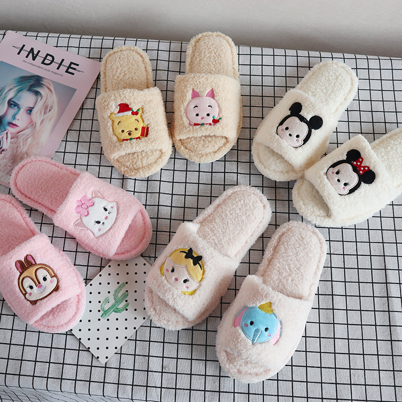 7 Style Cartoon Slippers Anime character Adult Women Cute Anti-Slip Indoor Home Slippers Shoes Bedroom Warm Soft Christmas gift image