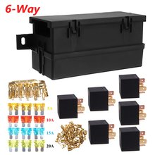12V 80A Auto Car Part 6-way 6 Relays w/ Relay Box 12 Blade Fuses Waterproof for cars automo