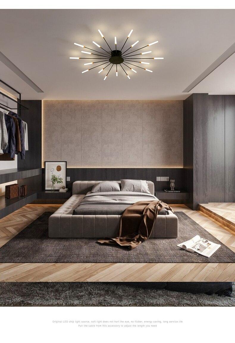 Novo led lustre para sala de estar