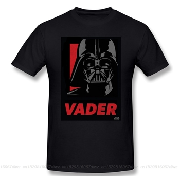 Men mandalorian T-Shirts Funny Round Neck Short Sleeve Tops Vader Vintage Pure Cotton Tees Harajuku tShirt