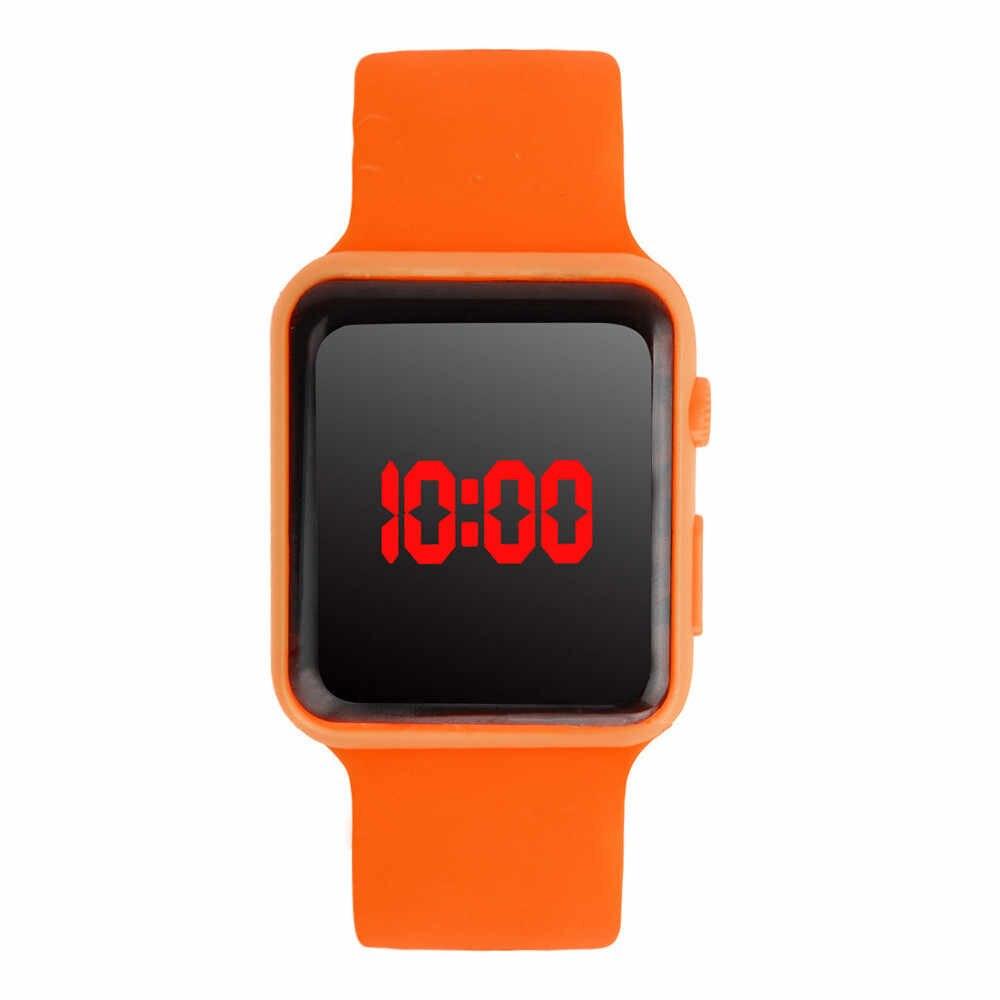 שעון דיגיטלי שעון reloj inteligente mujer יוניסקס דיגיטלי LED ספורט שעון סיליקון להקת יד שעונים גברים ילדי אופנה