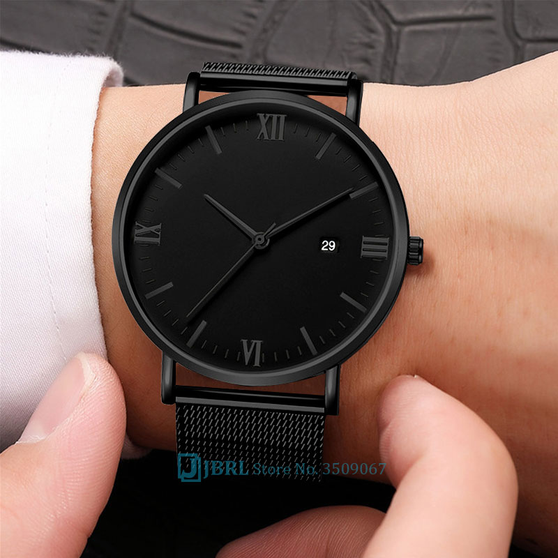 Big Black Watch Women Watches Ladies Luxury 2019 Stainless Steel Quartz Wrist Watch For Women Clock Female Wristwatch With Date