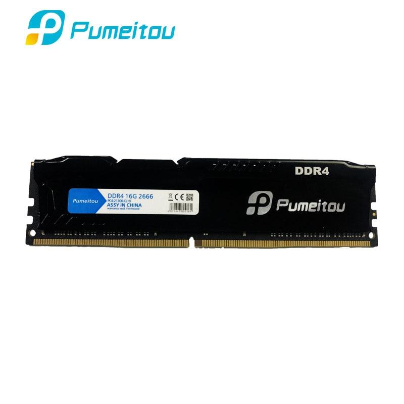Pumeitou AMD Intel RAM DDR4 4GB 8GB 16GB 2133 2400 2666 MHz Memoria masaüstü bellek 288 pin 1.2V yeni RAMs