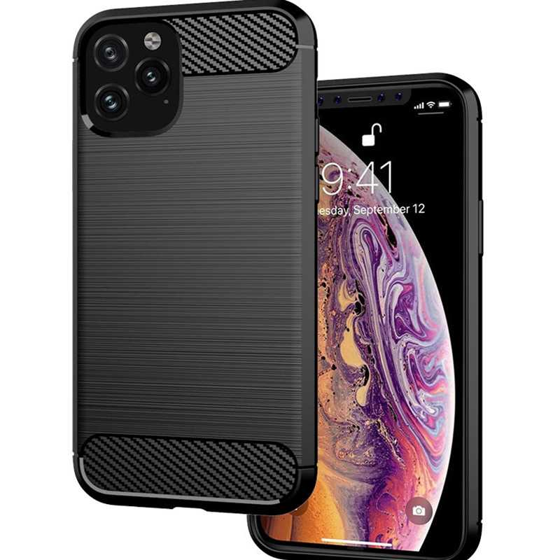 Funda 360 a prueba de golpes para iphone 7 Funda coque de silicona suave para iphone 6 6s 7 8 Plus x xr xs 11 pro max fundas Color sólido