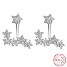 Женские серьги гвоздики из серебра 925 пробы с фианитом