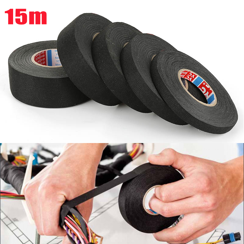 Fabric-Tape Cable-Harness Cloth Wiring-Loom-Protection Adhesive Heat-Resistant Width