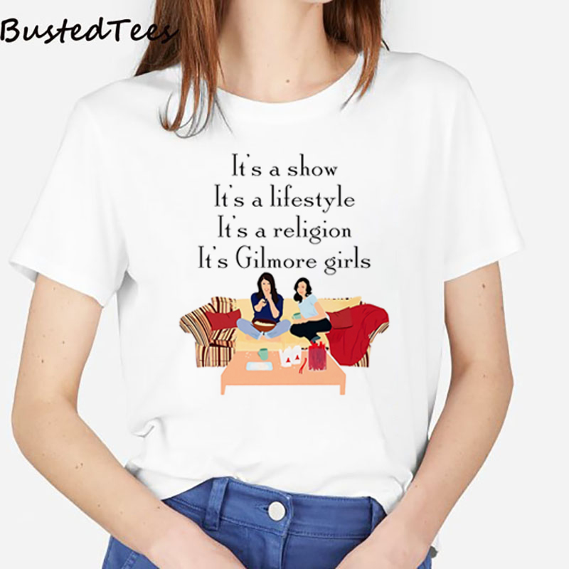 Summer Harajuku T Shirt Aesthetic Women Maiyaca Gilmore Girls Rory Graphic Tees Korean Clothes Plus Size Streetwear Harajuku