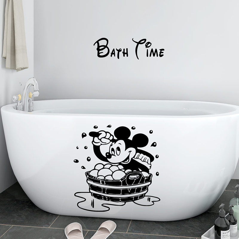 Children S Bedroom Child Decor Decals Stickers Vinyl Art Duck Bathroom Bath Time Shower Wall Art Sticker Vinyl Decals Quotes Transfer Home Garden