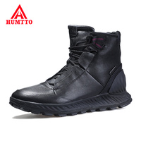 Outdoor Non slip Sneakers Fashion Casual High top Mens Shoes Waterproof Genuine Leather Shoes Men Size 39 45