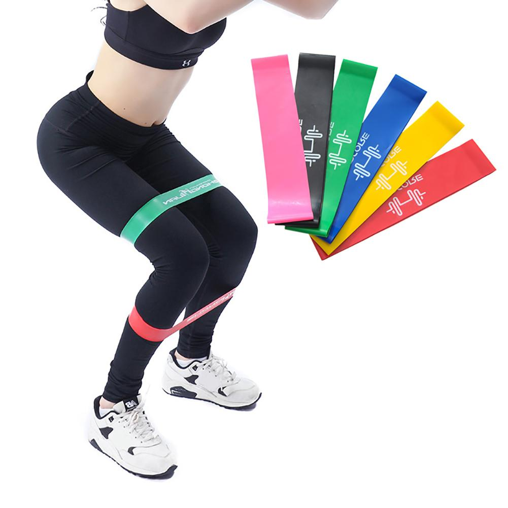 Elastic Gymnastic Band Training Gum Fitness Equipment Workout Resistance Bands Latex Fitness Bands For Sports Exercise