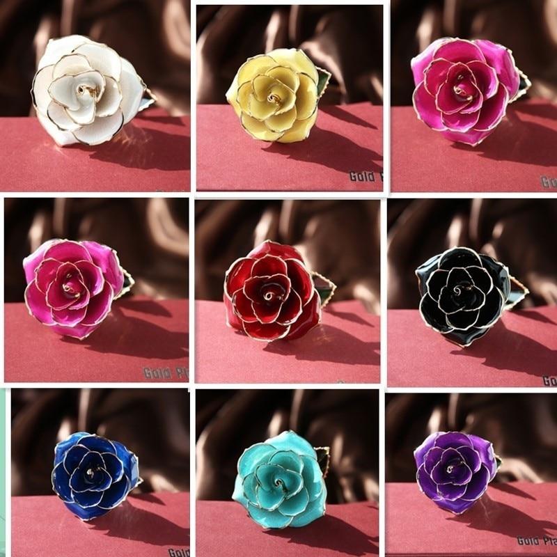 Цветочный декор, искусственный цветок, искусственная Роза, украшение, искусственная имитация, цвет, золотая фольга, 10 цветов, растительный орнамент, фестиваль