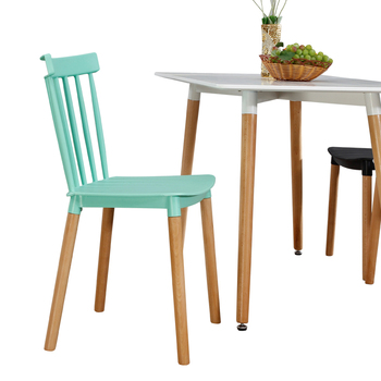 Nordic simple INS Wenshayi casual chair backrest Japanese plastic chair solid wood designer negotiating lounge chair