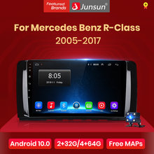 Junsun v1 android 10.0 rádio do carro multimídia estéreo automático para mercedes benz r-classe w251 r300 m-classe w164 ml350 2005 2 din dvd