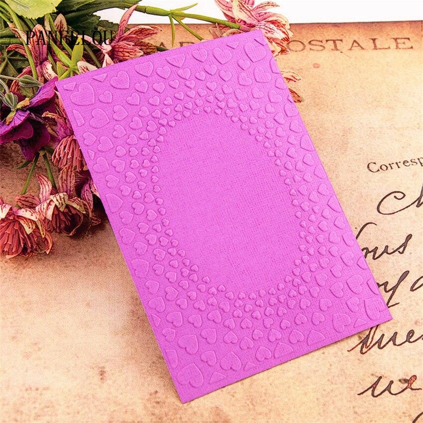PANFELOU 10.5x14.8cm Love Tunnel Embossing Folders Plastic For Scrapbooking DIY Template Fondant Cake Photo Album Card Making