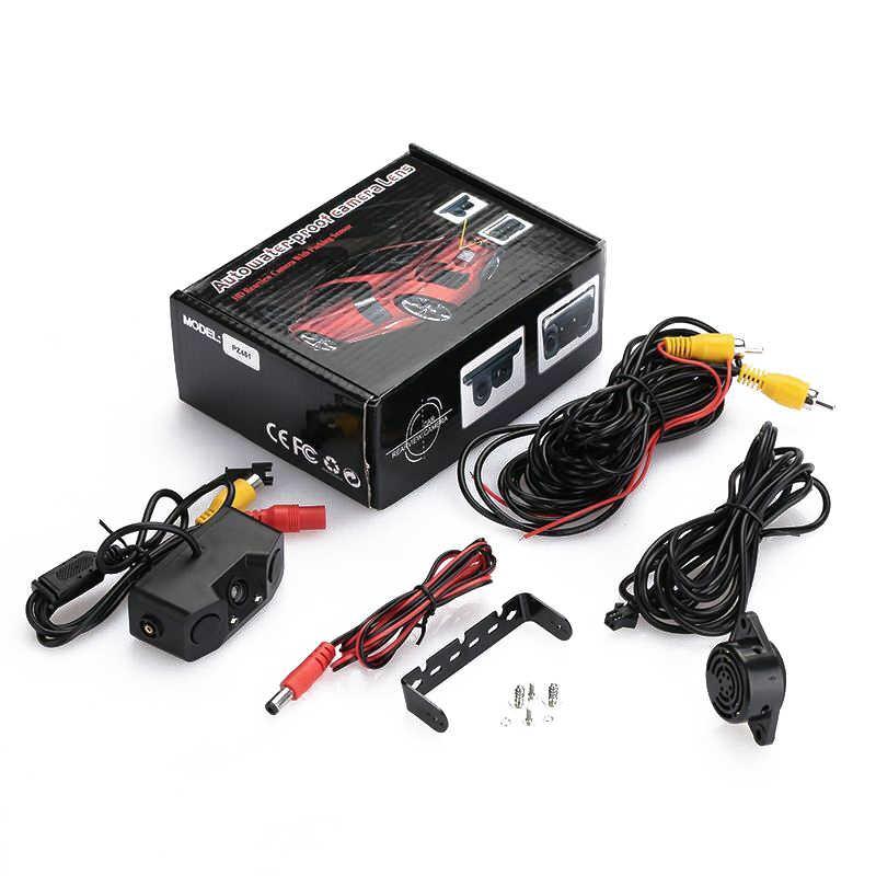 Auto Auto Achteruitrijcamera Parking Sensor Monitor 12V Reverse Backup Buzzer Achteruitrijcamera Met 2 Parking Lijn sensoren