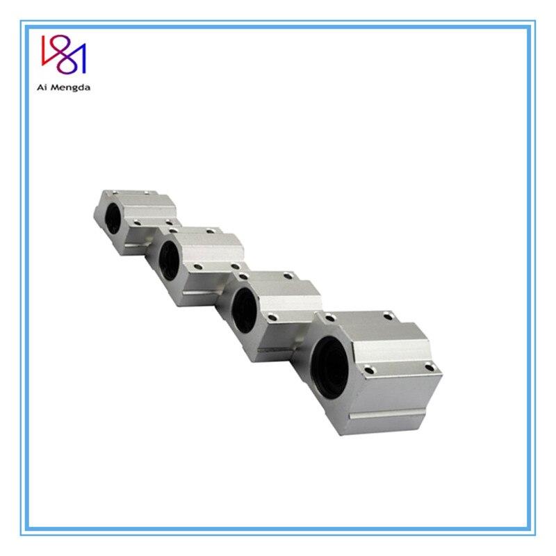Sc6uu/sc8uu/sc10uu/sc12uu/sc16uu movimento linear rolamento de esferas slide bloco bucha eixo linear para cnc roteador 3d peças da impressora
