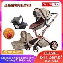 Роскошная детская коляска Высокая Land-Scape детская коляска 3 в 1 Hotmom коляска