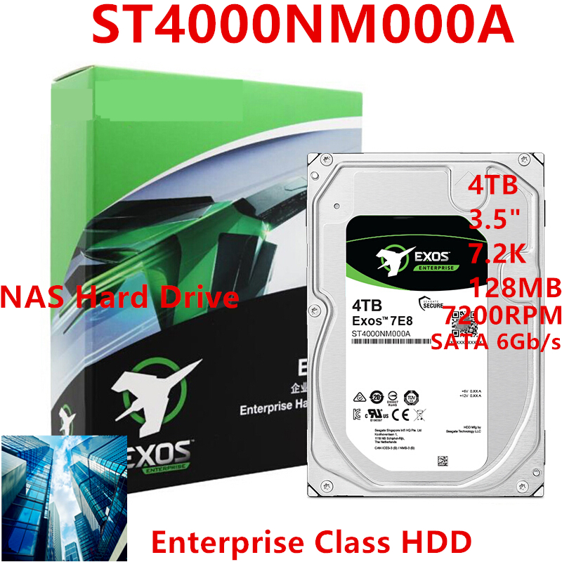 """New HDD For Seagate Brand 4TB 3.5"""" 7.2K SATA 6Gb/s 128MB 7200RPM For Internal Hard Disk For EnterpriseHDD For ST4000NM000A 1"""