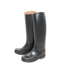 Bottes d'équitation en cuir lisse doublure en cuir bottes de Dressage bottes équestres unisexe équipement d'équitation sur mesure