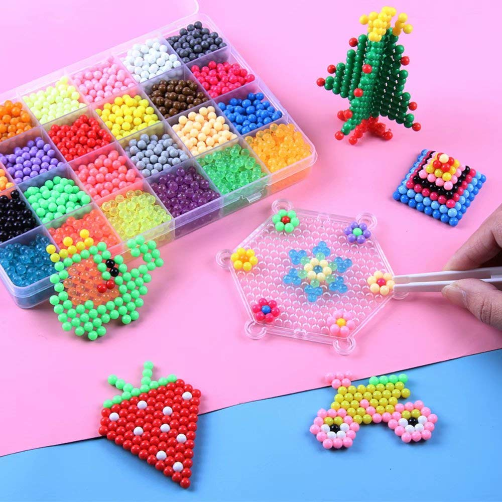 DIY Art Craft Animal Handmade Sticky Beads Multicolor Puzzle Beads Water Sticky Toys Educational Toys Kids Good Gifts