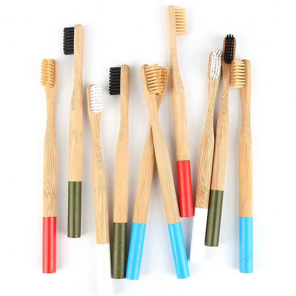 Drop Ship Natural Bamboo Toothbrush Soft Bristle Eco Friendly Travel Tooth Brush Oral Care Wood Handle cepillo de dientes
