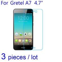 3pcs/lot Phone Screen Protectors Guard for Gretel A7