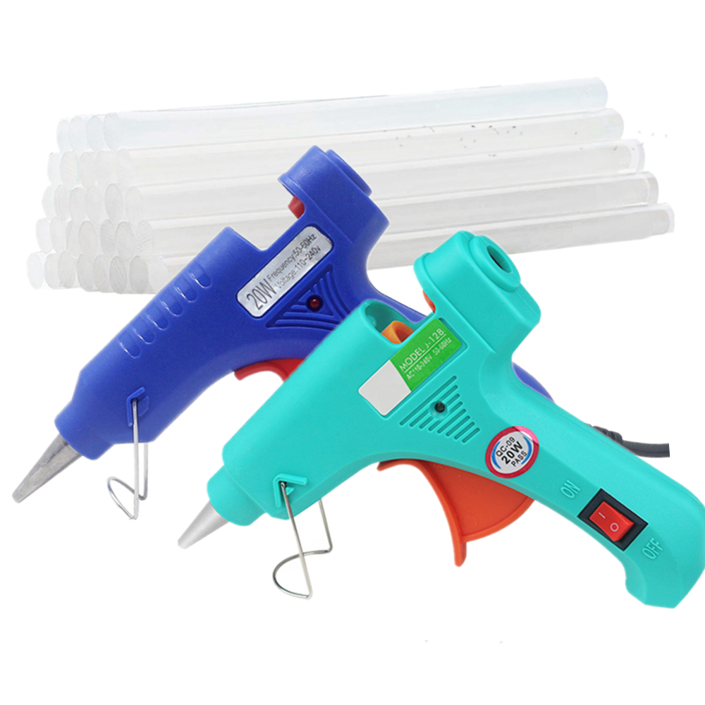 Hot Melt Glue Gun Glue Stick Mini Guns Thermo Electric Heat Temperature Tool For Wood Working Stick Paper Hairpin PU Flowers