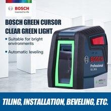 Original bosch gll30g laser nível de alta precisão luz verde de duas linhas horizontal e vertical laser nível de luz ferramenta