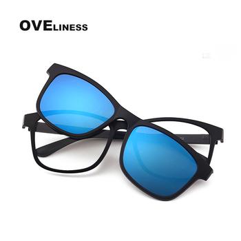 2020 okulary optyczne okulary w stylu retro rama mężczyźni kobiety okulary spolaryzowane okulary przeciwsłoneczne w formie nakładki okulary korekcyjne okulary tanie i dobre opinie oveliness CN (pochodzenie) SQUARE Dla dorosłych Plastikowe tytanu Lustro Antyrefleksyjną UV400 41mm 1647 52mm TAC Lens with TR90 Rim Pass Polarized Test UV400 Test