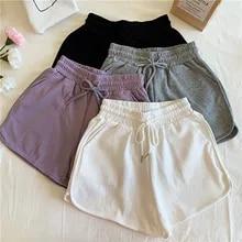 Casual Shorts Drawstring Wide Plus-Size Summer Women Ladies New Loose Lungewear